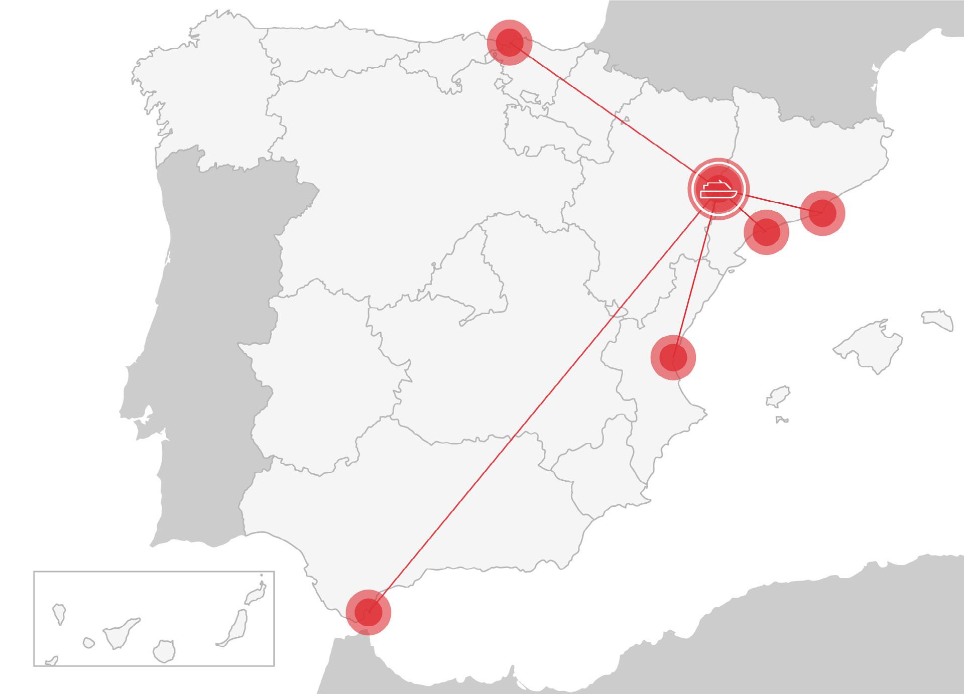 Mapa serveis marítims Tassa